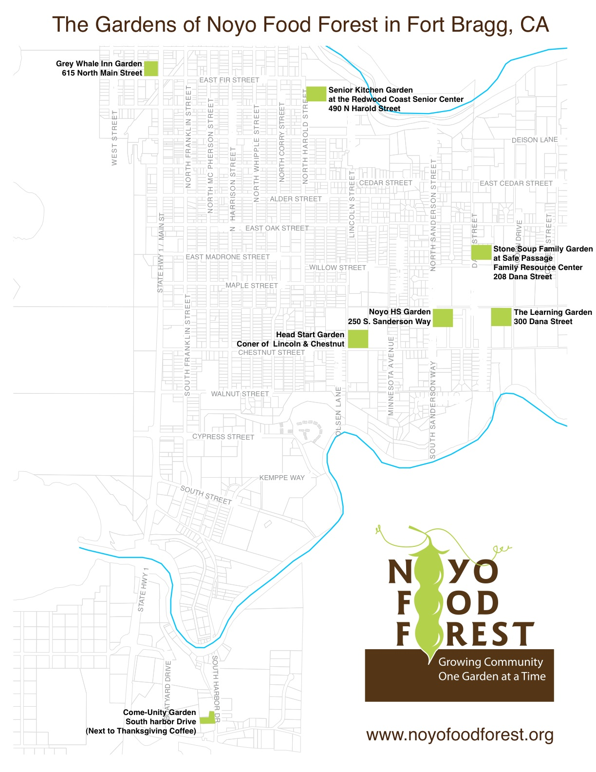 Map of NFF Gardens, past and present